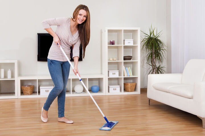 cleaning heavily soiled hardwood floors