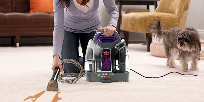 get shampoo out of carpet by usning a portable carpet cleaner