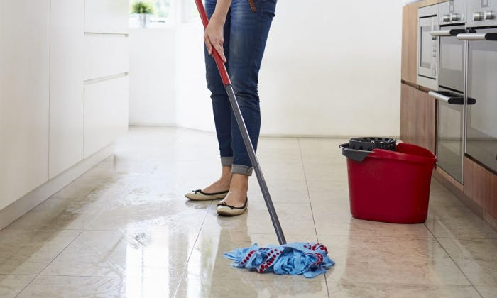 how to clean floor tiles grout